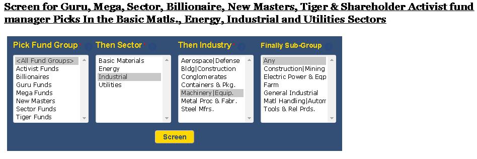 Q32016 Consensus Picks Industry Screenerbasic Matls And Energy